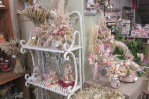compositions florales en fleurs séchées