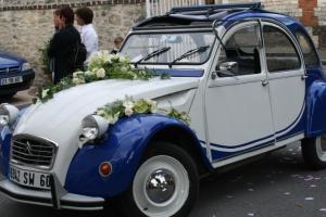 mariage champêtre rétro 2cv