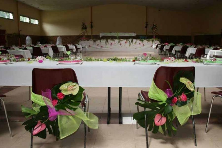 Décoration de salle pour un mariage